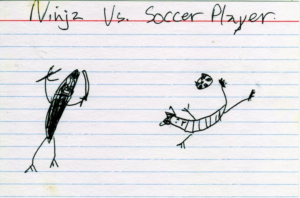 ninja  vs soccer